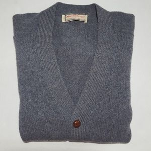 Vintage Grandpa Sweater Cardigan 100% Lambswool